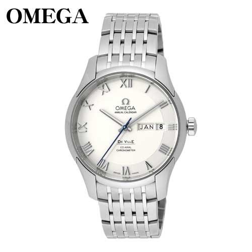 オメガ 【美品】腕時計 デビル コーアクシャル メンズ メタルバンド 白 431.10.41.22.02.001