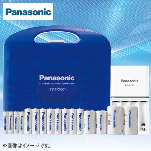 【クリックで詳細表示】パナソニック 充電式電池 エネループ充電器セット(12本) K-KJ53MCC84